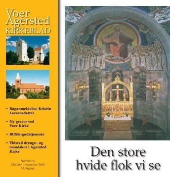 nr 6 for oktober - november 2006 - Voer og Agersted Sogne