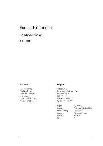 Spildevandsplan - Samsø Kommune