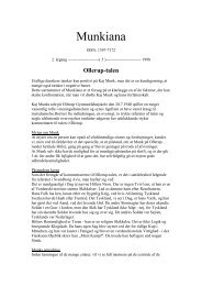 Munkiana nr. 5, 1998. PDF dokument. Dette nummer - Kaj Munk ...