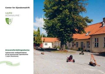 Ansvarsfordelingsskema Center for Ejendomsdrift - Lejre Kommune