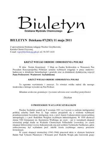 BIULETYN 07 (283) 11.05.2011 r.