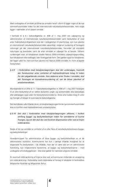 Landsplandirektiv for sommerhusgrunde i ... - Naturstyrelsen