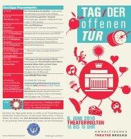 10 bis 16 uhr - Anhaltisches Theater Dessau
