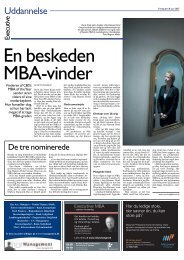 Uddannelse - CBS MBA Alumni Society