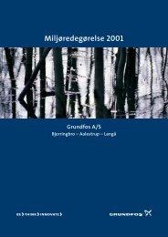Miljøredegørelse 2001 - Grundfos