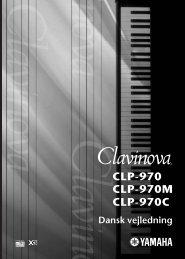 CLP-970 Dansk vejledning / Cover - Yamaha