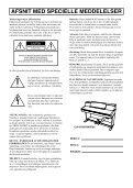 CLP-970 Dansk vejledning / Cover - Yamaha - Page 2