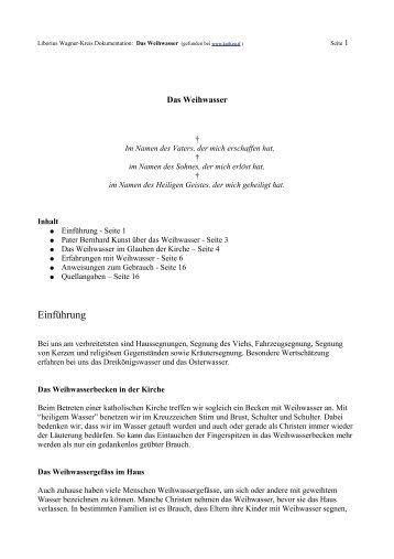 Weihwasser- Zeugnisse-pdf - Liborius Wagner-Kreis