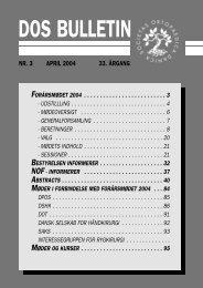 DOS BULLETIN - Dansk Ortopædisk Selskab
