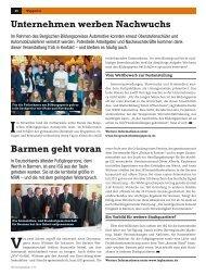 Wirtschaftsblatt 1/13 - Wirtschaftsförderung Wuppertal