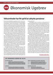 Økonomisk Ugebrev Nr. 40 – 2. december 2012. 19. årgang - 360 Skat