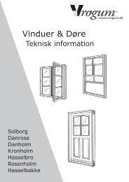 Vinduer & Døre - tekn. - information - Vrogum
