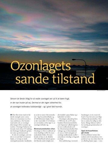Ozonlagets sande tilstand - DMI