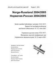 Norge-Russland 2004/2005 Норвегия-Россия 2004 ... - TopReferat