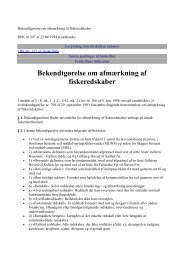 Bekendtgørelse om afmærkning af fiskeredskaber - Hobro Både og ...
