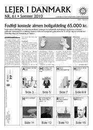 LEJER I DANMARK - Danmarks Lejerforeninger