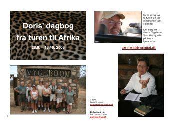 Doris' dagbog fra turen til Afrika - Velkommen til Eskildsen Safari