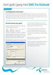 Brugervejledning til SMS fra Outlook - Telenor