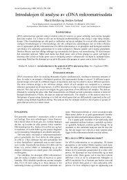 Introduksjon til analyse av cDNA mikromatrisedata - NTNU