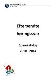 Eftersendte høringssvar - Fredericia Kommune