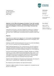 Afgørelse om ikke Vvm og fremlæggelse af ... - Viborg Kommune