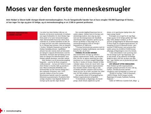 Om Menneskesmugling - udgivet 2000 - Dansk Røde Kors
