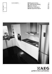 AEG SCS 51800 F0 Fridge Freezer Operating Instructions User ...