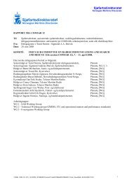 Rapport COMSAR 12. - Sjøfartsdirektoratet