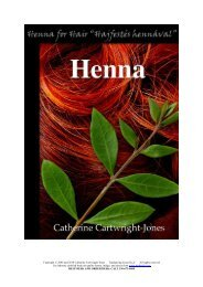 Copyright © 2006 and 2010 Catherine Cartwright ... - Henna for Hair