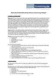 """- 1 - """"Danmarks Privatskoleforenings visioner, missioner og strategier"""""""
