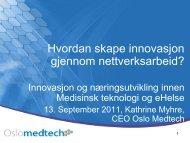 Innovasjon i nettverk - INREMO