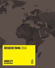 Årsberetning 2010 - Amnesty International