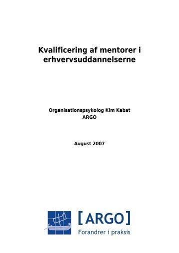 Kvalificering af mentorer - Konsulentfirmaet ARGO