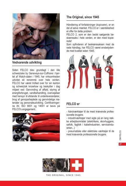 """Brochure """"Kraftværktøjer"""" - Felco"""
