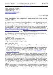 2009-02-21 Gaderummet ved Kalle. Fire relevante forhold, samt ...