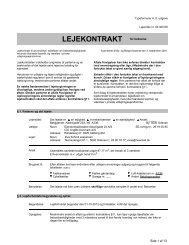 LEJEKONTRAKT for beboelse - Ungbodanmark.dk