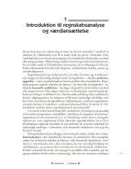 1 Introduktion til regnskabsanalyse og værdiansættelse