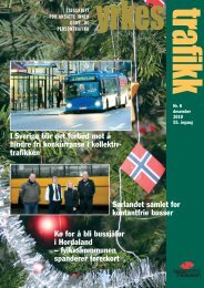 Yrkestrafikk 6-2010 - Yrkestrafikkforbundet