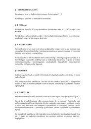 § 1 HJEMSTED OG NAVN Foreningens navn er ...