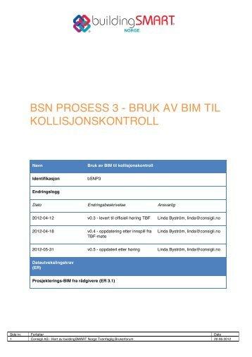 bsn prosess 3 - bruk av bim til kollisjonskontroll - buildingSMART
