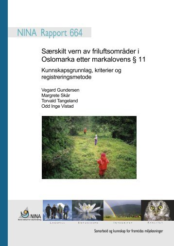 Særskilt vern av friluftsområder i Oslomarka etter ... - NINA