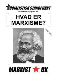 Hvad er marxisme - Socialistisk Standpunkt
