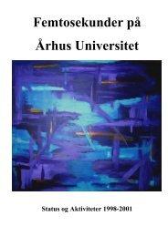 (tri)Annual Report for 1998-2001 - Femtolab - Aarhus Universitet