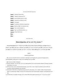 Bekendtgørelse af lov om CO -kvoter 1) - Energinet.dk