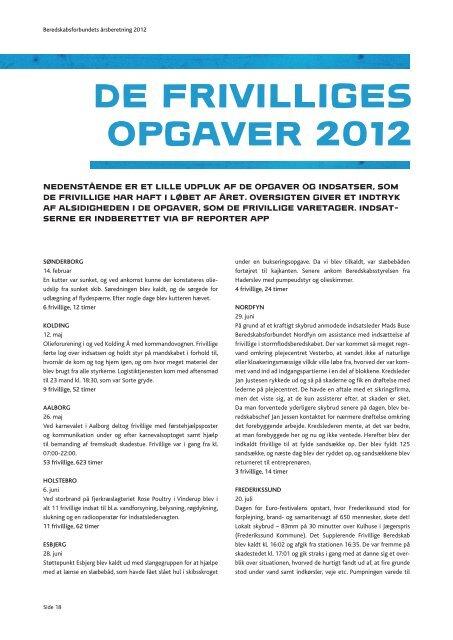 Årsberetning 2012 - Beredskabsforbundet