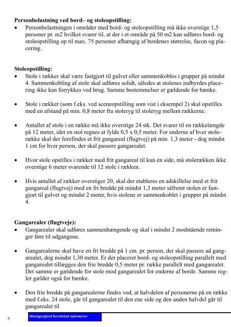 Bord– og stoleopstilling - Beredskab Hobro