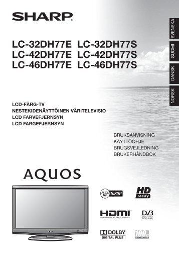 LC-32/42/46DH77E/S Operation-Manual DK - Sharp