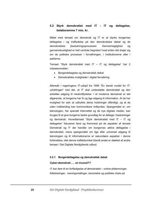 Det Digitale Nordjylland Projektkonkurrence 1/2001