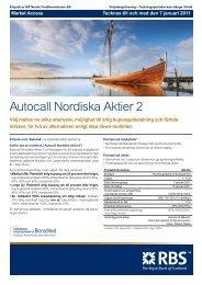 Autocall Nordiska Aktier 2 - RBS - Sweden