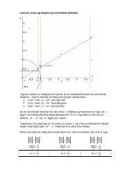 cosinus, sinus og tangens på retvinklede trekanter i figuren ovenfor ...